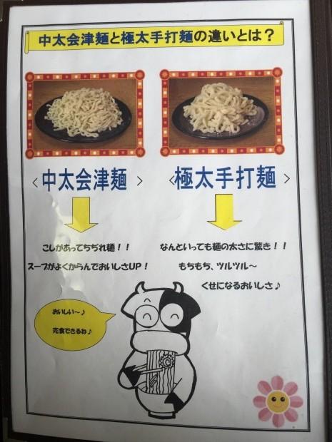 牛乳屋食堂 麺の種類