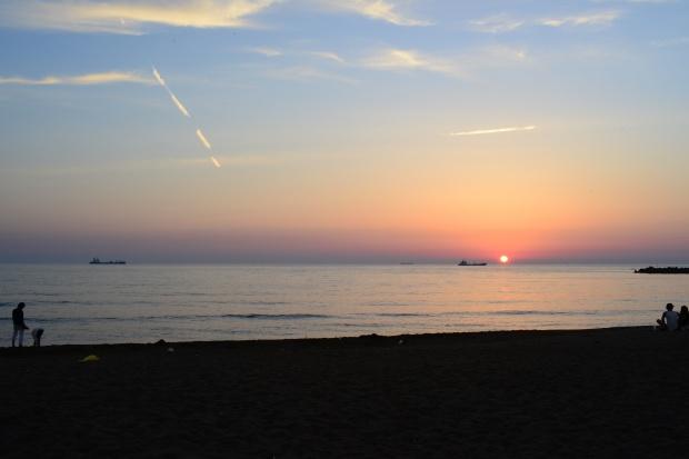 サンセットビーチの夕日