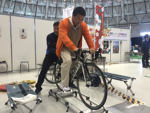 スポーツフェスタ2015でロードバイク体験しました