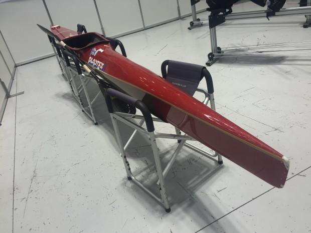 スポーツフェスタ2015 カヌースプリントに使われている実際のカヌー