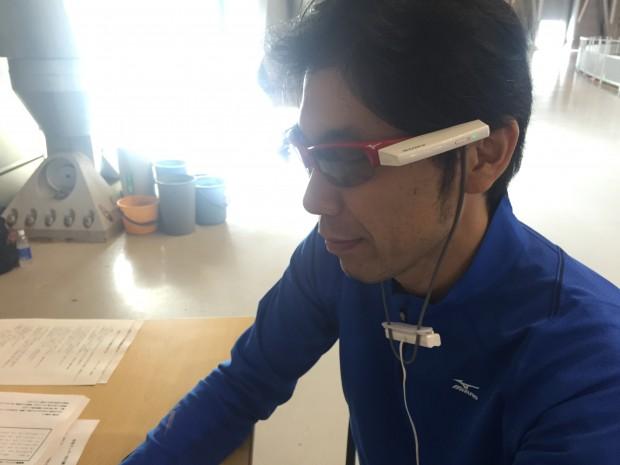 スポーツフェスタ2015 ミズノのウェアラブル端末の実証実験