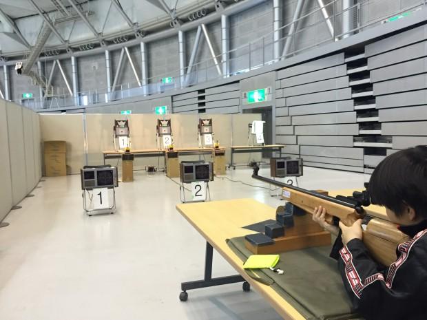 スポーツフェスタ2015 ライフル射撃体験も
