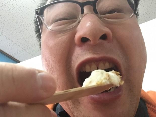 ソースカツ丼アイスを食べてみた