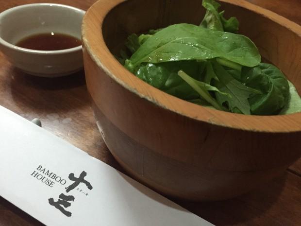 ステーキ十三サラダ