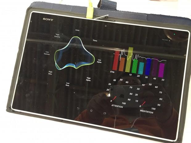 テクノフェアで脳波測定