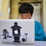MacBookProにシールを