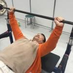 スポーツフェスタ2015でパワーリフティング体験40kgを持ち上げました