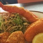 富士屋会館のランチ ミックスフライ定食